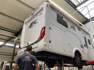 Installation de la suspension pneumatique sur un Laika camping-car | Trapmann Air Suspension