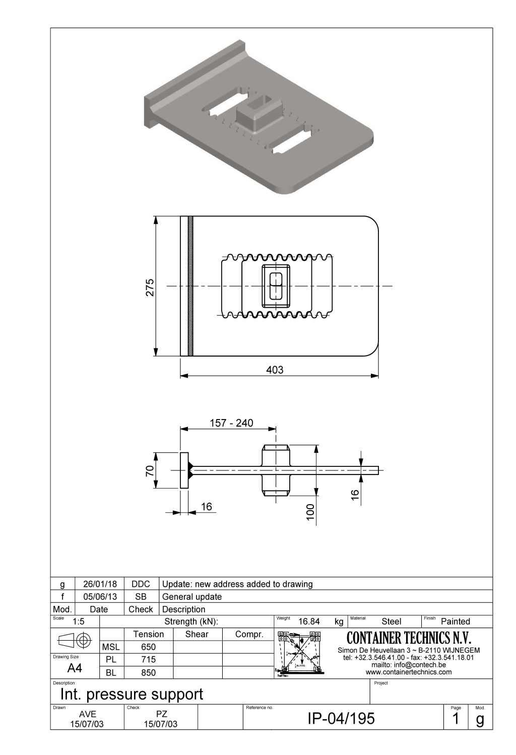 IP-04/195 INTERMEDIATE PRESSURE SUPPORT